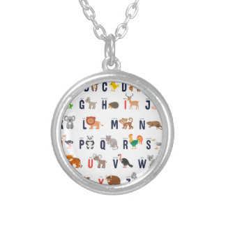 Alphabet Animals - super cute! Silver Plated Necklace