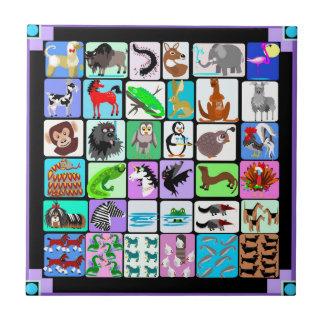 Alphabet animals tile