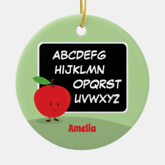 Alphabet Apple with Name | Ornament