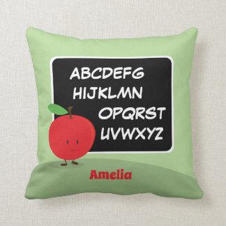 Alphabet Apple with Name | Throw Pillow