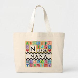 Alphabet Art Nana Jumbo Tote Bag
