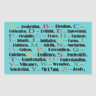 alphabet awakening to zesty sticker