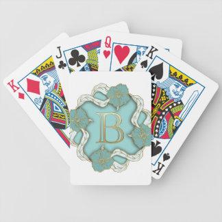 alphabet b monogram bicycle playing cards