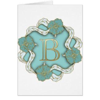 alphabet b monogram card