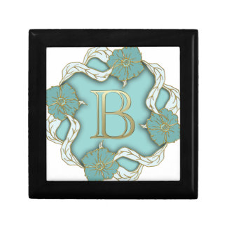 alphabet b monogram gift box