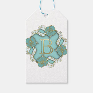 alphabet b monogram gift tags