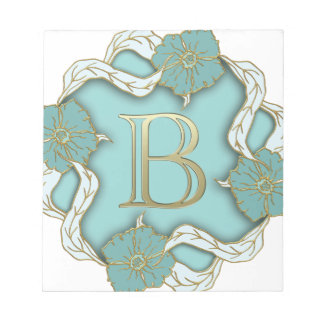 alphabet b monogram notepad