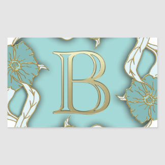 alphabet b monogram sticker