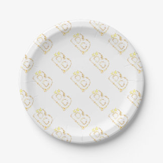 alphabet b paper plate