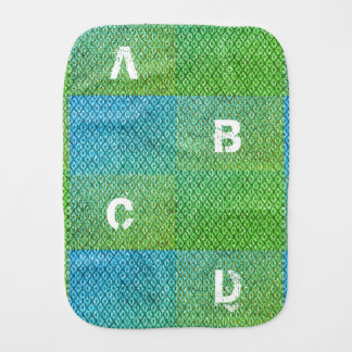 Alphabet Baby Burp Cloth