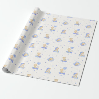 Alphabet Bear Wrapping Paper