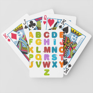 alphabet bicycle playing cards