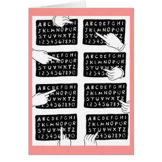 alphabet board card