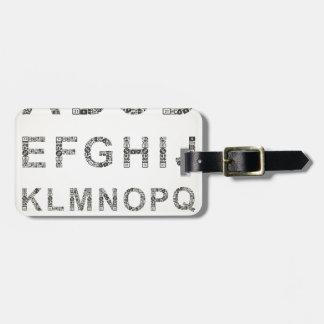 Alphabet business bag tag