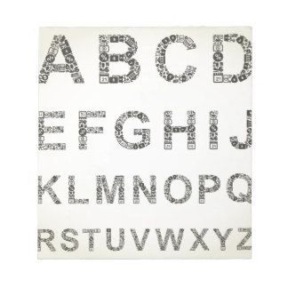 Alphabet business notepad