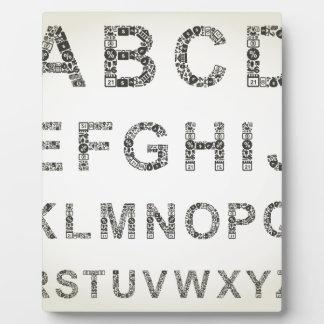 Alphabet business plaque