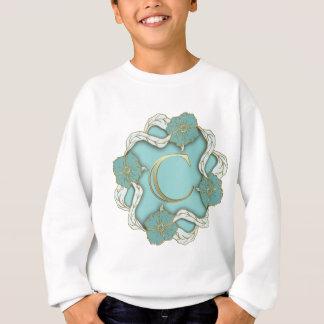 alphabet c  monogram sweatshirt
