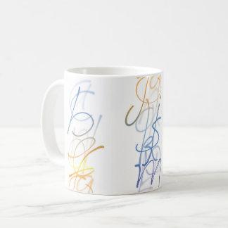 Alphabet Calligraphy Coffee Mug