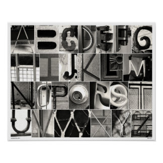 Alphabet City B&W Photo Poster 16x20
