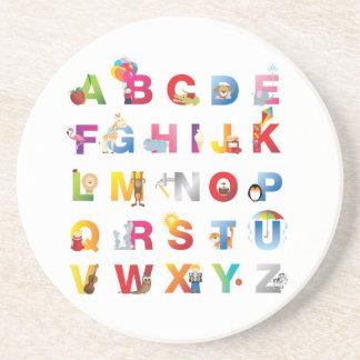 alphabet coaster