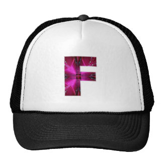Alphabet  F FF FFF  :  Sparkle Theme Trucker Hat
