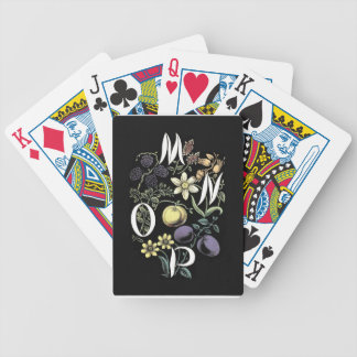 Alphabet Flowers (Item) Bicycle Playing Cards