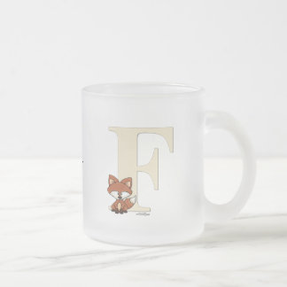Alphabet Fox Gifts for baby Frosted Glass Coffee Mug