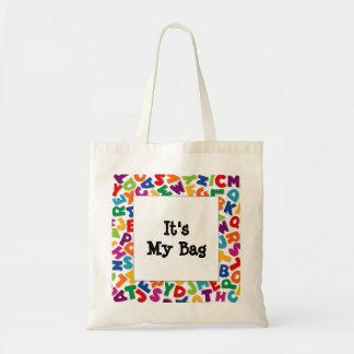 Alphabet Frame Tote Bag