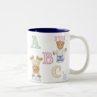 Alphabet Fun Teddy Bears Two-Tone Mug