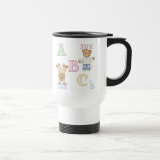 Alphabet Fun Teddy Bears Stainless Steel Travel Mug