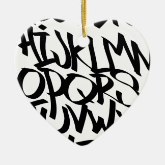 alphabet graffiti ceramic ornament