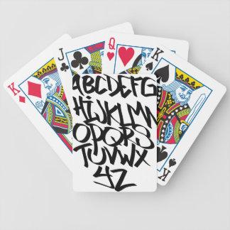 alphabet graffiti poker deck