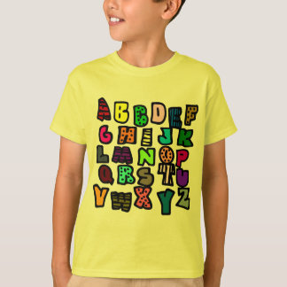 Alphabet Graffiti With Multi-Colors and Patterns T-Shirt