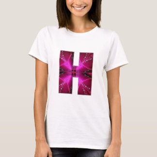 Alphabet  H HH HHH  :  Sparkle Theme Star Circle T-Shirt