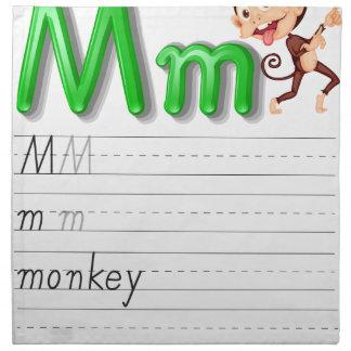 Alphabet handwriting series cloth napkins