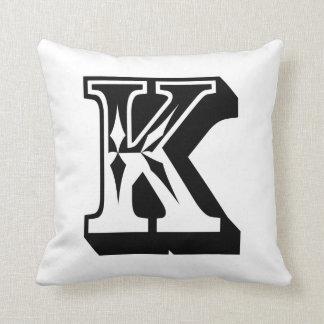 "Alphabet ""K"" Letter ABC Throw Pillow"