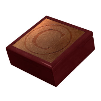 alphabet leather letter C Jewelry Box