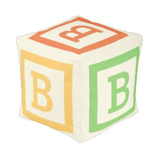 Alphabet Letter B Pouf