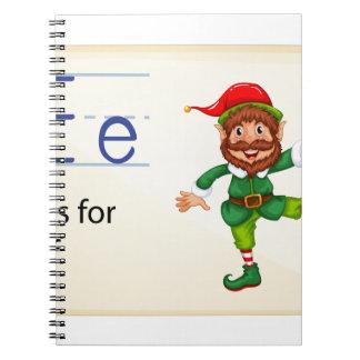 Alphabet letter E Spiral Note Books