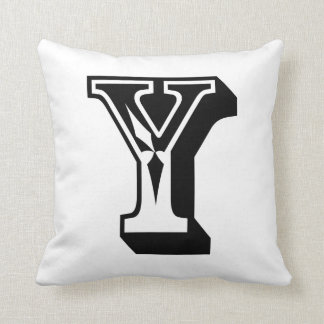 "Alphabet Letter ""Y"" ABC Word Throw Pillow"