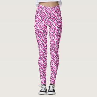 Alphabet letters purple pink pattern leggings