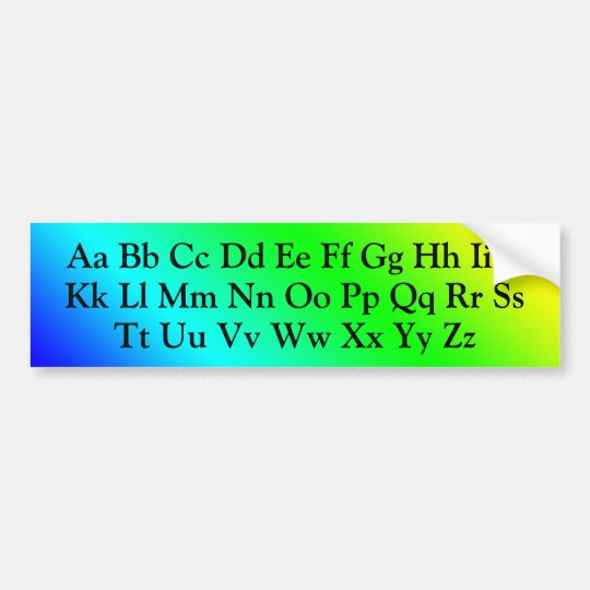 Alphabet Letters - Uppercase and  Lowercase ABC's Bumper Sticker