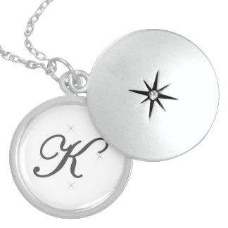 Alphabet locket - K
