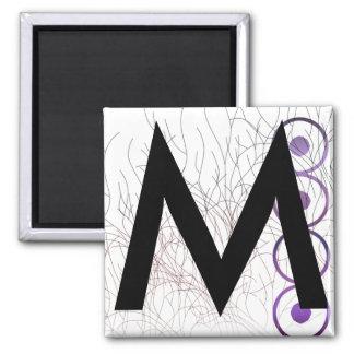 Alphabet Magnets: M Square Magnet