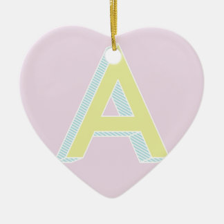Alphabet Mauve A Ceramic Ornament