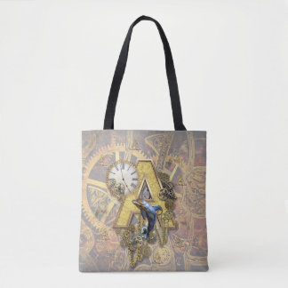 Alphabet-monogram capital-letter A Tote Bag