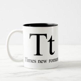 Alphabet Of Typography Mug - Times New Roman