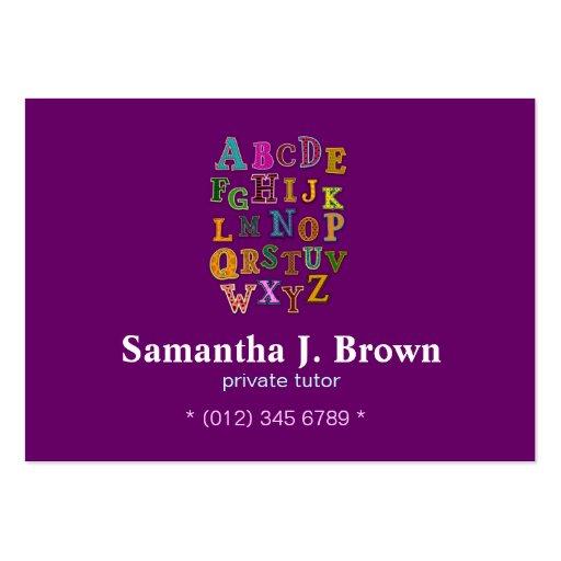 Alphabet Patches Business Card