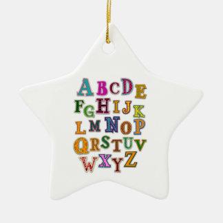 Alphabet Patches Ornament