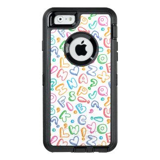 alphabet pattern OtterBox iPhone 6/6s case